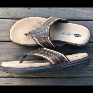 Dr Scholl's Men's Leather Sandals/Flip Flops
